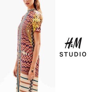 H&M Studio SS16 Printed Silk Dress